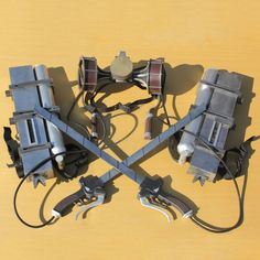 Shingeki no Kyojin/ Attack on Titan cosplay / costume weapon props set - Three Dimensional Maneuver Gear Anime Version Eren Jaeger Cosplay, Aot Cosplay, Cosplay Costumes, Cosplay Ideas, Costume Ideas, Attack On Titan Series, Anime Version, Three Dimensional, Inventions