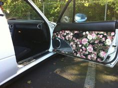 Floral door cards mx5 miata roadster interior & Door panel covers | cars | Pinterest | Cars Miata car and Mazda