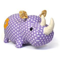 Download Rhino plush toy pattern Sewing Pattern | What's New | YouCanMakeThis.com