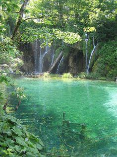 Plitvice waterfalls and pool, Croatia
