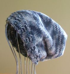 ~~ NEW Mens Womens Unisex Knitted SLOUCHY Beanie HAT Greys HANDMADE QLD ~~