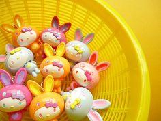 Kawaii Cute Hello Kitty Bunny Costume Keychain Charm Sanrio