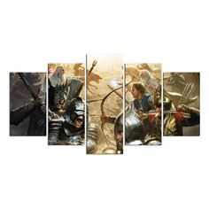 The Lord Of The Rings Fantasy Canvas Print Gift 5 Panels