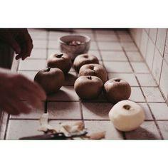 Maman aux fourneaux : des #pommes au four, avec une surprise à l'intérieur, c'est la recette de Clotilde et elle est sur le blog  Bonne nuit