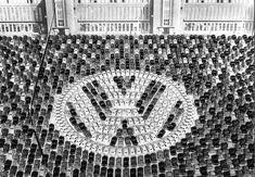 1955 - Celebration of the 1,000,000th Beetle at Wolfsburg factory #vw_vintage_morat