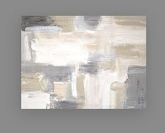 This is a one of a kind painting by acrylic artist Ora Birenbaum. Very soft and powdery with monochromatic shades of taupe, bright white, cream, sand, and gray. I accented this piece with metallic silver and metallic white as well. Very highly textured for wonderful depth. This piece would display beautifully in any direction. Sides will be finished and will arrive wired and ready for display. TITLE: White Sands 10 DIMENSIONS: 30x40x1.5 MEDIUM: Acrylics on Canvas ROOM VIEWS MAY NOT BE TO...