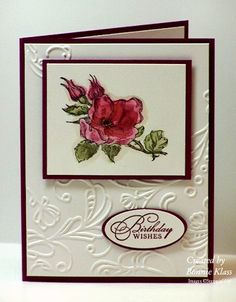Birthday Happiness by bon2stamp - Cards and Paper Crafts at Splitcoaststampers  this is such a striking CAS card.