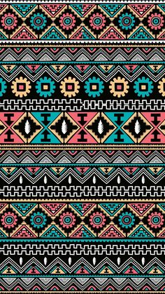Elegant Tribal Pattern iPhone Wallpaper