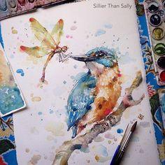 Watercolorist: @sillierthansally #waterblog #акварель #aquarelle #drawing #art #artist #artwork #painting #illustration #watercolor #aquarela