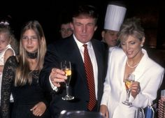 Ivanka Trump Donald Trump and Marla Maples during Donald Trump 50th Birthday Party at Trump Tower in New York City New York United States