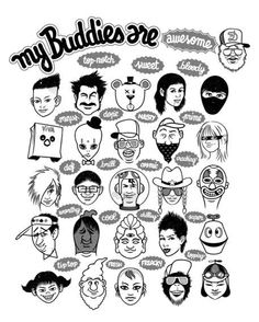 'My Buddies' by John Duvengar on artflakes.com as poster or art print $15.80