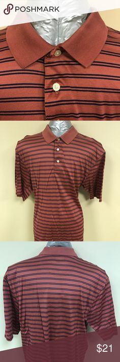 """Oxford Golf 100%. cotton golf shirt Oxford Golf 100% cotton golf shirt.  The quality you would expect from a manufacturer like Oxford Golf. No blemishes.  Looks and wears like it is brand new.  The measurement from the back of the collar to the hem is 32"""" and the measurement from armpit to armpit is 24.""""  I would call the color """"brick"""" Oxford Golf Shirts Polos"""