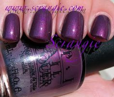 OPI Catherine The Grape - please note the lid was not on tight when it was shaken and a little bit leaked into the lid.  It's never been used, just shaken with out the lid on tight.