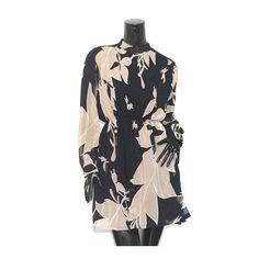 HIGH COLLAR FLORAL DRESS