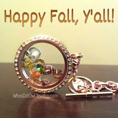 Fall is my favorite season - cool weather, gorgeous fall leaves & FOOTBALL! Design your #OrigamiOwl Living Locket with some of our new Fall charms. I have retired charms if you need any. Just email me.
