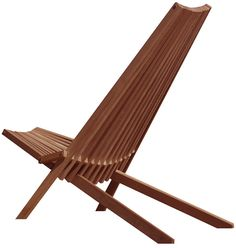 Outdoor Furniture - Wood Deck Chairs that can fold up.