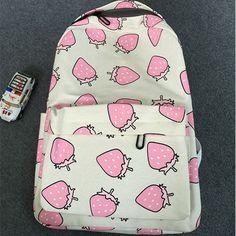 Japanese kawaii sweet cute strawberry backpack schoolbag bag