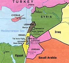Here is a map of Israel and its bordering countries.  From the picture the power hungry Palestinians are in search to take Jerusalem to make it into a future city on there side.
