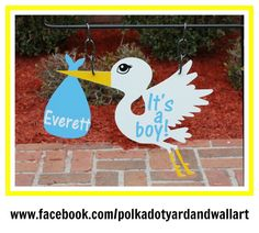 Hey, I found this really awesome Etsy listing at https://www.etsy.com/listing/180874168/custom-metal-stork-yard-garden-flag-sign