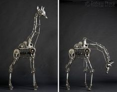 Artist Andrew Chase has created awesome steampunk art with his mechanical animal sculptures. Arte Robot, Robot Art, Steel Sculpture, Sculpture Art, Steampunk Kunst, Steampunk Animals, Muse Art, Animal Sculptures, Metal Sculptures