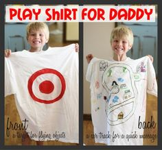 Kid-made play shirt for Daddy! (cute idea when the girls are older)