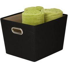 Honey-Can-Do Medium Decorative Storage Bin with Handles