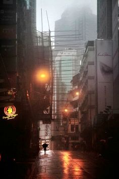 Hong-Kong in the Rain - Christophe Jacrot