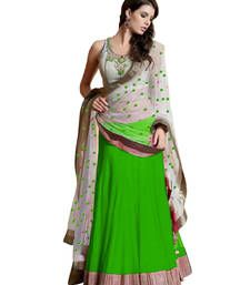 Buy Parrot embroidered georgette unstitched lehenga choli lehenga-choli online
