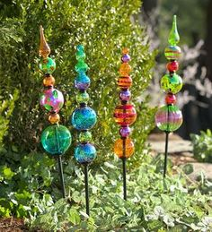 Superior Found It At Wayfair   Glass Finial Totem Garden Stake