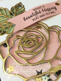 Stampin' Up! Rose Wonder Shaker Card