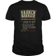 Branch Manager Funny Dictionary Term T Shirt, Hoodie Branch Manager