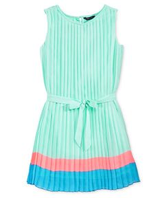Tommy Hilfiger Girls' Pleated Colorblocked Dress - Kids & Baby - Macy's
