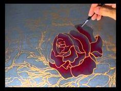 roses on silk by sydn_art