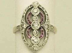 A fine antique Art Deco 0.95 carat diamond and ruby, 18 carat yellow gold ladies dress ring; an addition to the AC Silver jewellery range  http://www.acsilver.co.uk/shop/pc/0-95-ct-Diamond-and-Ruby-Yellow-Gold-Dress-Ring-Art-Deco-Style-Antique-Circa-1910-170p2575.htm#