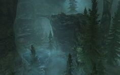 landscapes caves The Elder Scrolls V: Skyrim