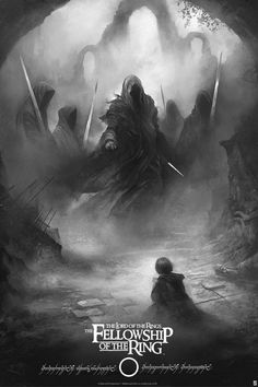 lord of the rings print by karl Fitzgerald variant
