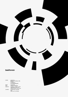 Beethoven poster by Josef Muller Brockmann for the Zurich Town Hall in the Graphic Design Posters, Graphic Design Typography, Graphic Design Illustration, Logo Design, Typography Images, Typography Inspiration, Graphic Design Inspiration, Joseph Muller, Circle Design