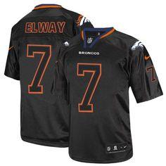 Nike Denver Broncos #7 John Elway Lights Out Black Limited NFL Jersey Sale