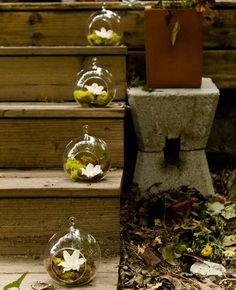 10 Ways To Use Hanging Glass Globes At Your Wedding | Photo by: Spark Photography | TheKnot.com