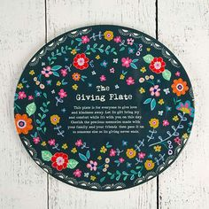 Melamine Giving Plates - The gift that keeps on giving! The Giving Plate makes the best gift...especially when it's filled with homemade brownies! Perfect for new neighbors, new baby, hard times, teacher, birthdays, hostess gift, just for fun and more! The saying on the plate explains to pay it forward and let the plate keep on giving. A sticker on the bottom explains how you can sign and date the plate with a Sharpie before passing it on again! It's fun to see where the plate goes over the…