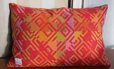Cushion cover made of vintage fabric by ReDesignandReCycled, kr240.00