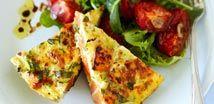 Zucchini, Sweet Potato & Feta Frittata
