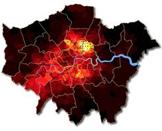 Fascinating map on London's cycling hot spots of commuters