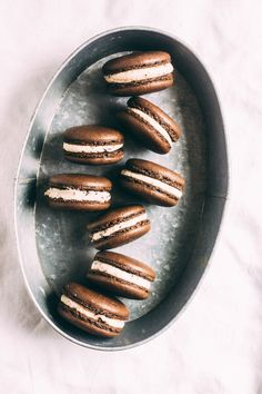 Cookie dough macarons
