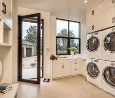 Big!!! You gotta have a multi-unit laundry room for your beach houses and vacation homes when you've got a bagillion guests staying for over a weekend. Things can get ugly really quick when there's only one washer and twenty people with wet swimsuits