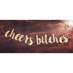 Cheers Bitches! Party Banner - Bachelorette, Graduation, Birthday, or just a regular Tuesday!