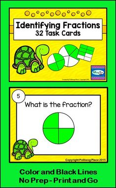 Identifying Fractions Task Cards ($)