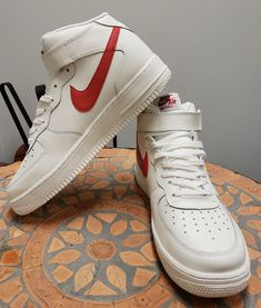lowest price b5141 25d0c Nike Air Force 1 mid 07 Mens Sneakers Shoes High Trainers White Cream NWOB  fashion clothing shoes accessories mensshoes athleticshoes (ebay link)