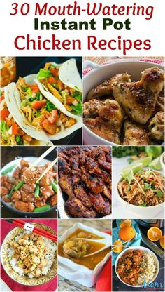 Have you jumped on the Instant Pot craze yet? We have 30 mouth-watering Instant Pot Chicken Recipes that are easy and quick! Fun Easy Recipes, New Recipes, Crockpot Recipes, Chicken Recipes, Dinner Recipes, Favorite Recipes, Amazing Recipes, Turkey Recipes, Delicious Recipes