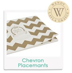 Wendy's Fave! Chevron Paper Placemats from @laylagrayce #laylagrayce #insiderfaves